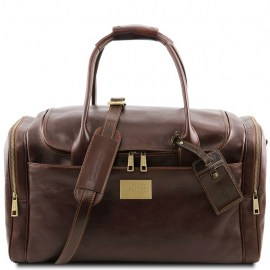 Travel leather bag with side pockets  Venice