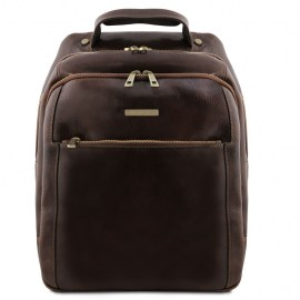 leather laptop backpack 3 Compartments Gino